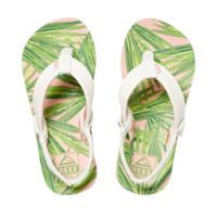 Reef Little Ahi  teenslippers wit, Wit/groen/roze