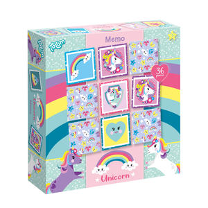 Unicorn memo spel kinderspel