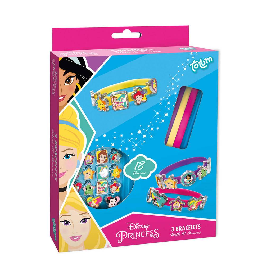 Disney Princess 3 schuifarmbandjes met 18 bedels