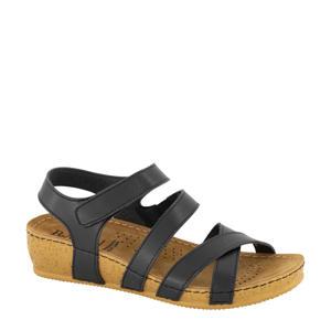 comfort sandalen zwart