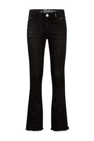 flared jeans Annemiek black denim