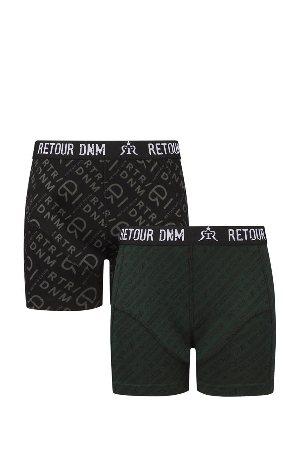 Retour Denim   boxershort Elio - set van 2 zwart, Zwart