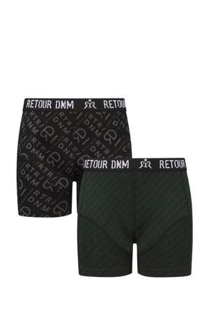 boxershort Elio - set van 2 zwart