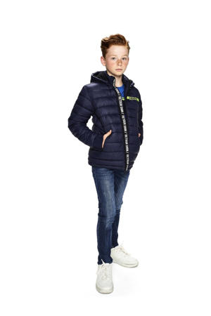 winterjas Pim donkerblauw