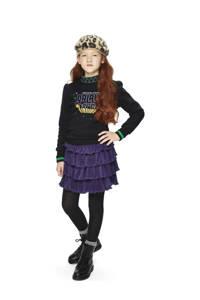 Retour Denim sweater Amber met printopdruk zwart, Zwart