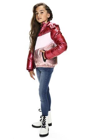 gewatteerde winterjas Joy rood/roze/rosé