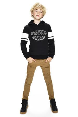 hoodie Flip met printopdruk zwart/wit