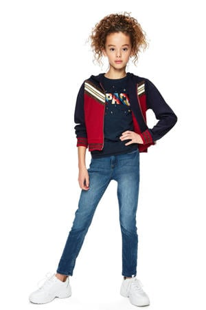 vest Thea rood/donkerblauw/wit