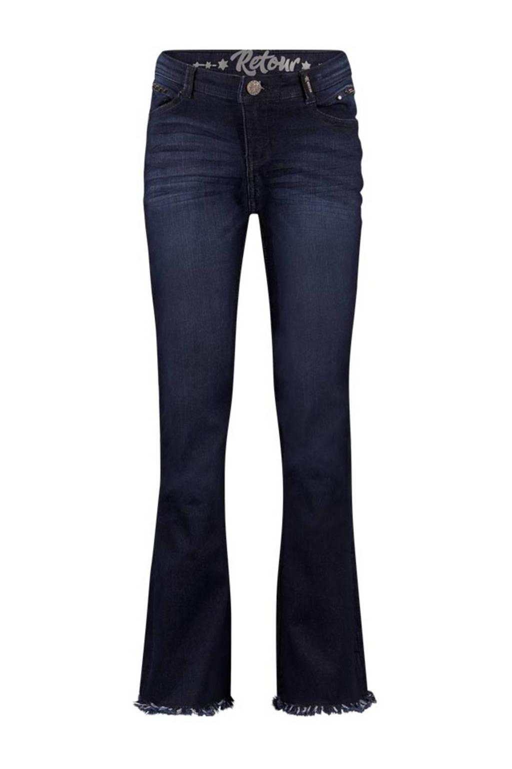 Retour Denim flared jeans Annemiek dark blue denim, Dark blue denim