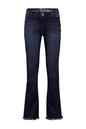flared jeans Annemiek dark blue denim