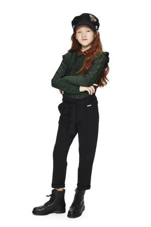 high waist loose fit broek Aranka zwart