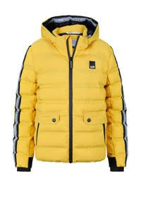 Retour Denim gewatteerde winterjas Lion met contrastbies geel, Geel
