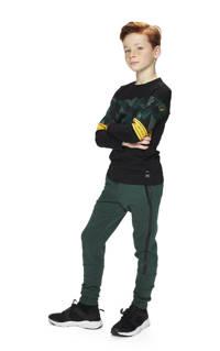 Retour Denim longsleeve Jorn met camouflageprint zwart/groen/geel, Zwart/groen/geel