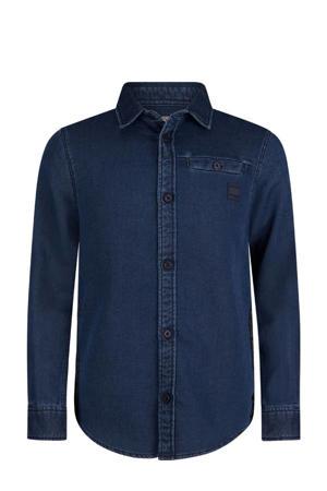 slim fit denim overhemd Storm medium blue denim