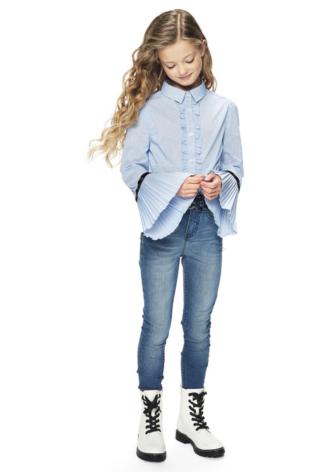 Retour Denim gestreepte blouse Hilde blauw, Blauw