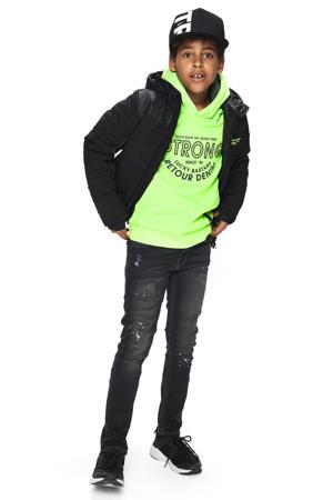 gewatteerde winterjas Guy zwart