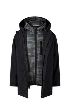 winterjas Eric zwart/grijs
