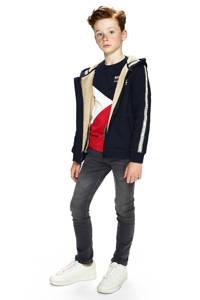 Retour Denim jas Gildo met contrastbies donkerblauw, Donkerblauw