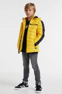 Retour Denim gewatteerde winterjas Rene geel/zwart, Geel/zwart