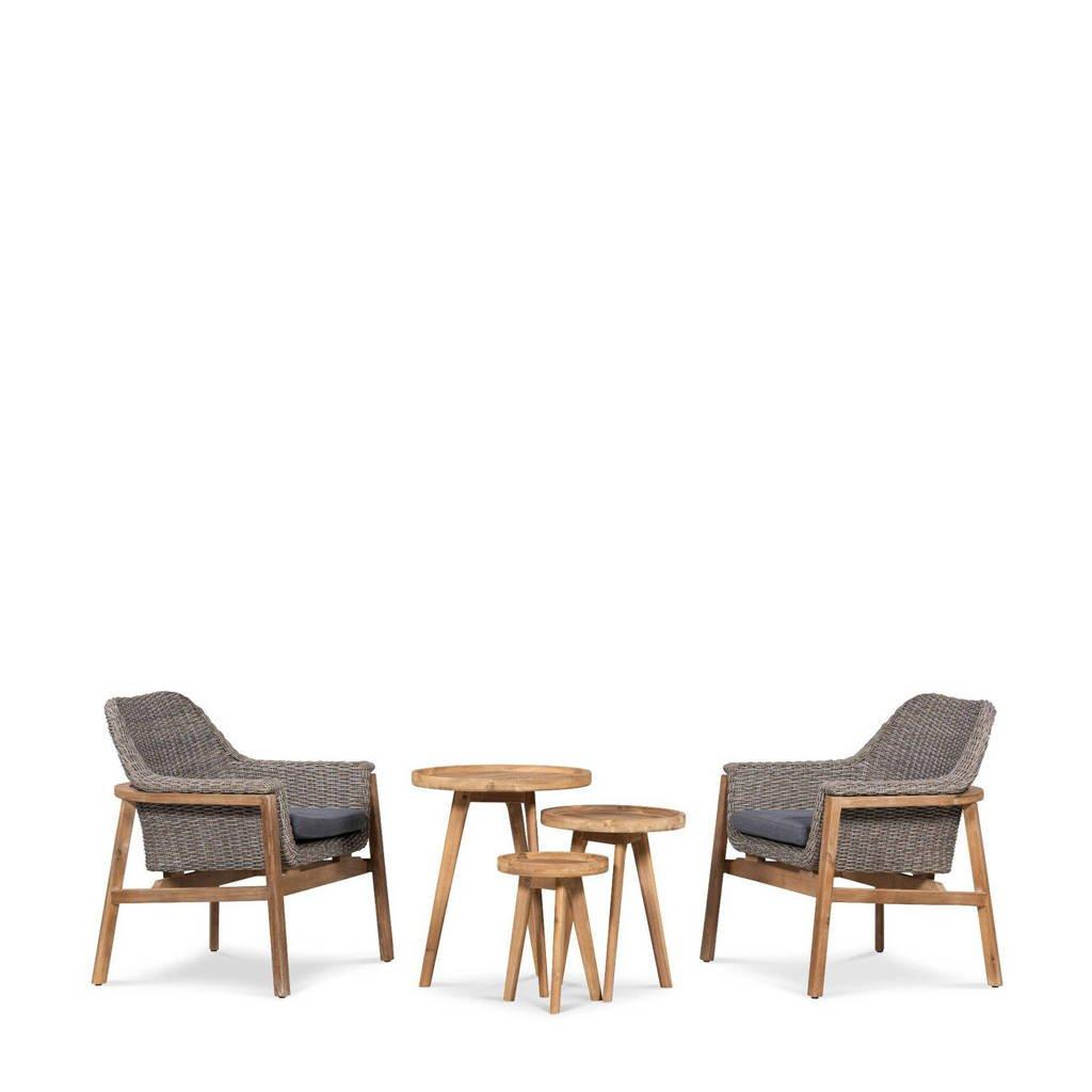 whkmp's own loungeset Torki, Light teak/Grijs/Antraciet/Naturel