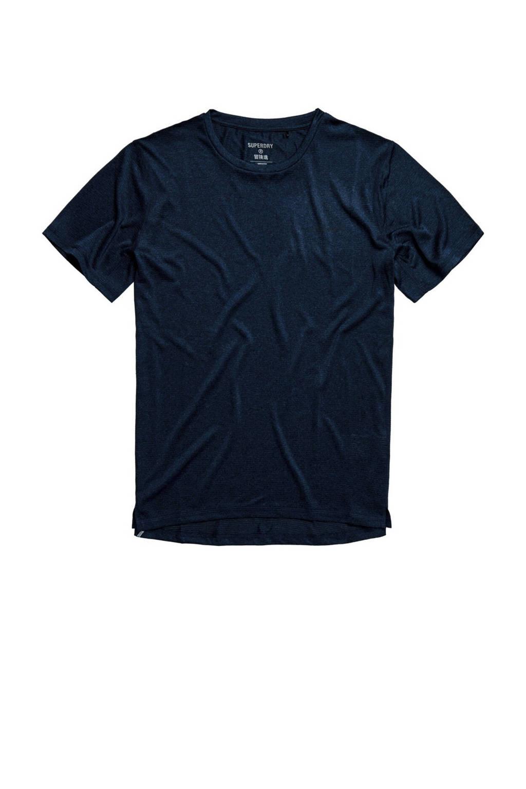 Superdry Sport   T-shirt donkerblauw, Donkerblauw