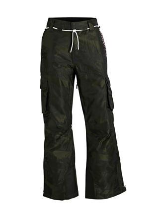 skibroek Freestyle Cargo zwart/donkergroen