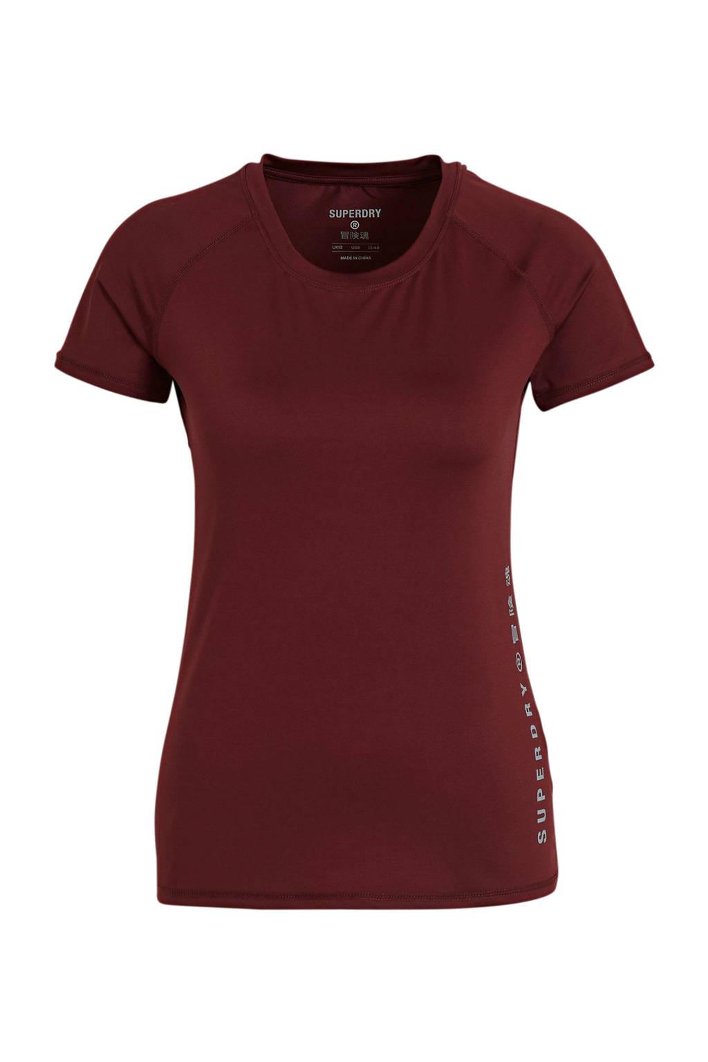 Superdry Sport T-shirt roze, Rood