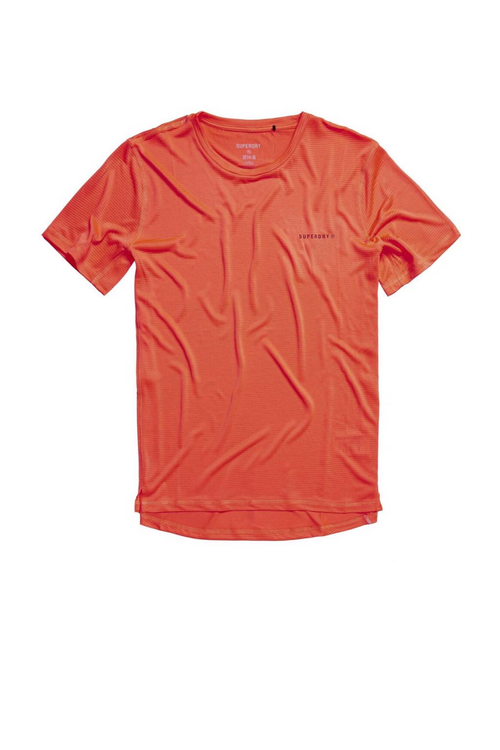 Superdry Sport   T-shirt oranje, Oranje