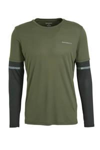 Superdry Sport   sport T-shirt kaki, Groen