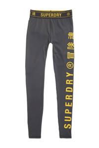 Superdry Sport broek grijs/geel, Grijs/geel