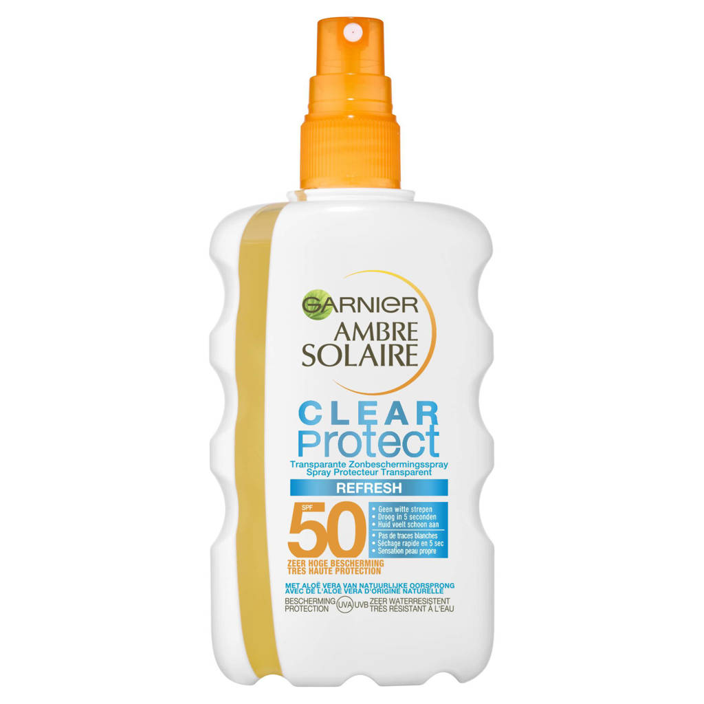 Garnier Ambre Solaire Garnier Ambre Solaire Clear Protect Refresh Transparante zonnebrand - SPF50