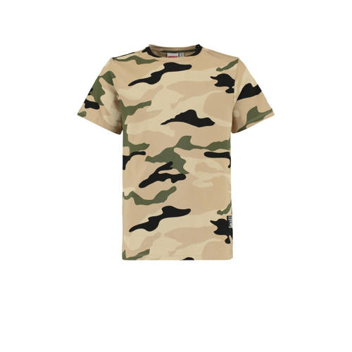 CoolCat Junior T-shirt Enzo met camouflageprint za