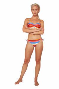 Protest gestreept strapless bandeau bikini Pousada blauw/rood/wit, Canyon