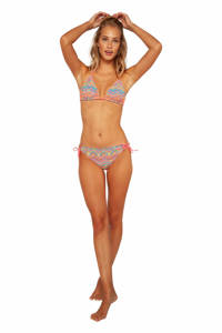 Protest triangel bikini Idillic met all over print roze/turquoise, So Rosy