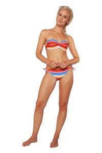 Protest gestreept strapless bandeau bikini Pousada C-cup blauw/rood/wit, Canyon