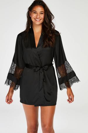kimono met kant zwart