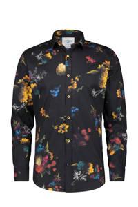 A fish named Fred regular fit overhemd met all over print zwart/geel/rood, Zwart/geel/rood