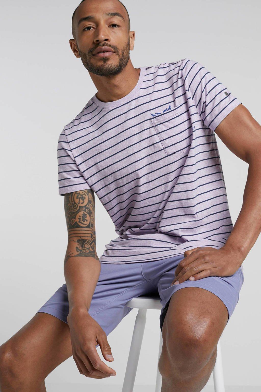 PME Legend gestreept T-shirt lila, Lila