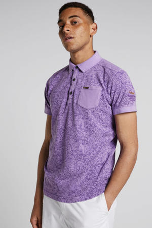regular fit polo met all over print lavendel