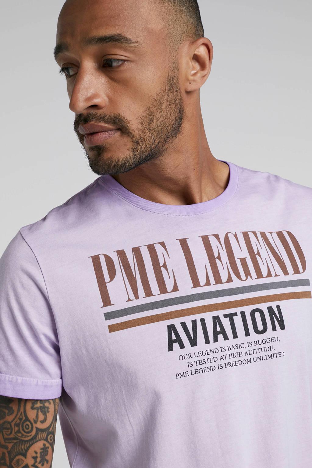 PME Legend T-shirt met logo lila, Lila