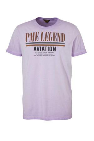 T-shirt met logo lila