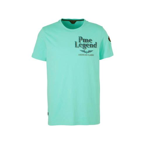 PME Legend T-shirt met printopdruk mintgroen