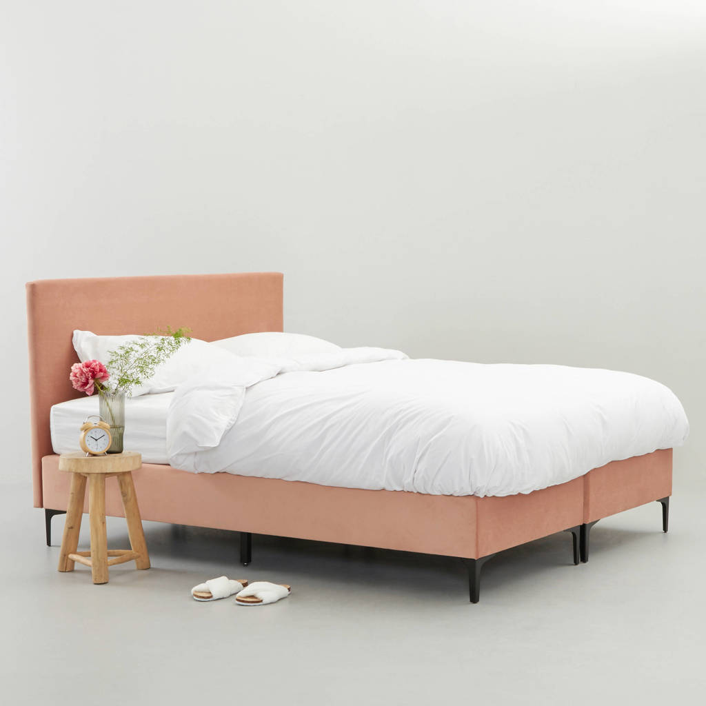 Wehkamp Home complete boxspring Elin (140x200 cm), Oudroze