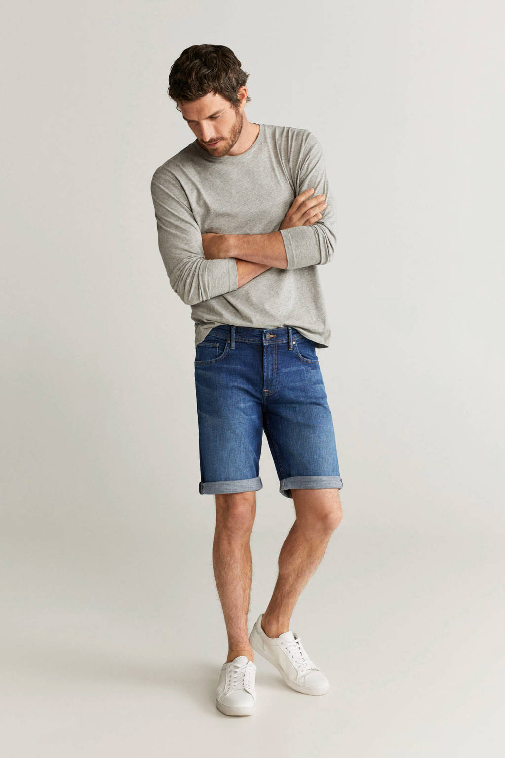Mango Man slim fit jeans donkerblauw, Donkerblauw