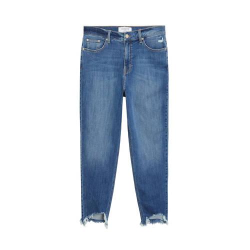 Violeta by Mango high waist mom capri jeans blue d