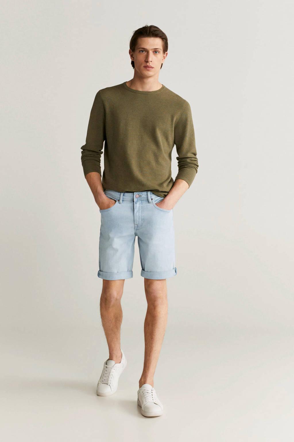 Mango Man slim fit jeans lichtblauw, Lichtblauw