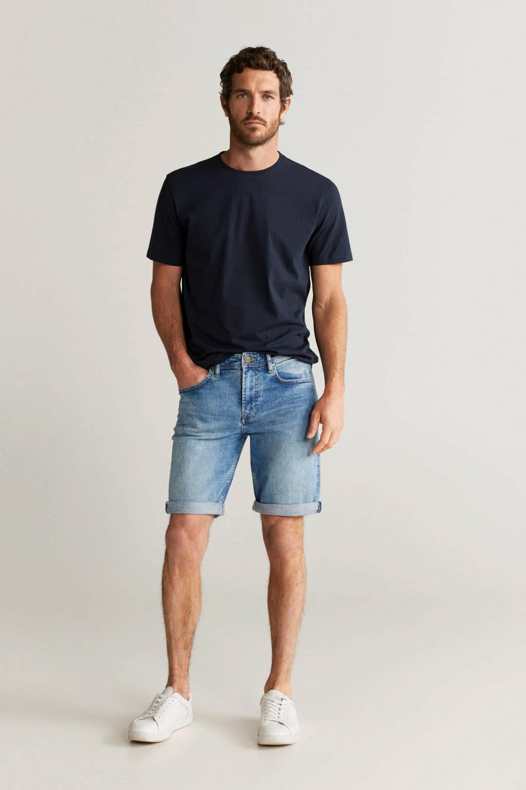 Mango Man slim fit jeans blauw, Blauw