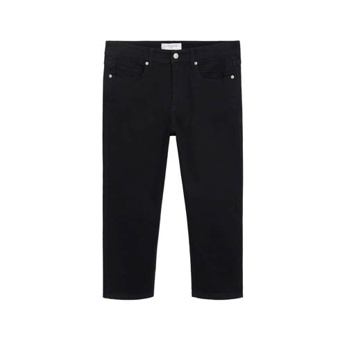 Violeta by Mango slim fit capri jeans black denim