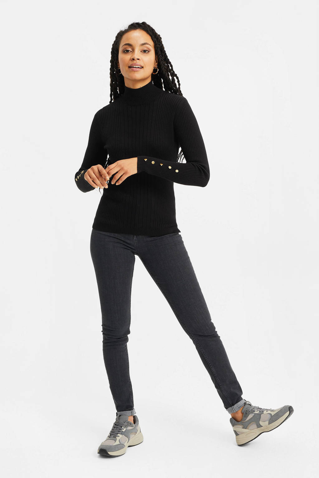 WE Fashion coltrui black uni, Black Uni