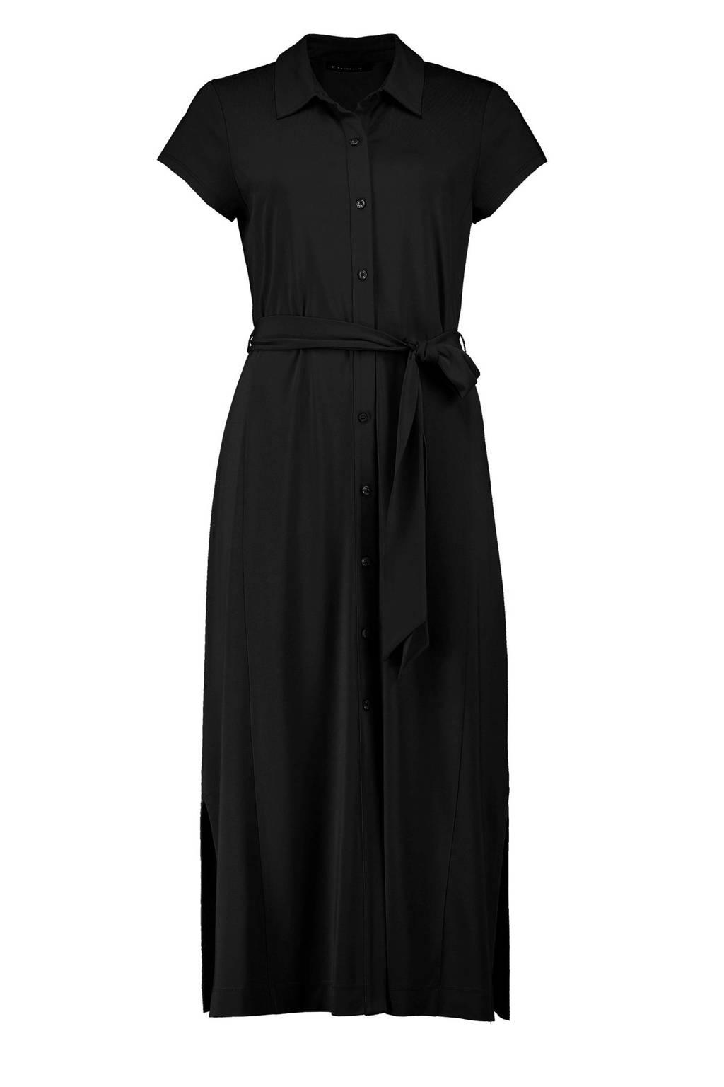 Expresso blousejurk met ceintuur zwart, Zwart